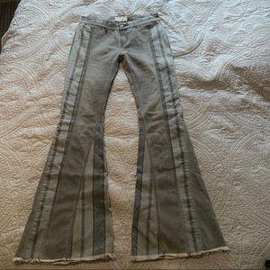 Free People Boho Denim Flair Jeans